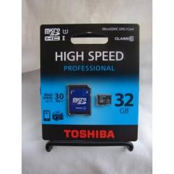 32 GB microSDHC memory card Class 10. Professional