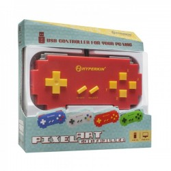 USB PC Mac controller, Pixel Art Gray