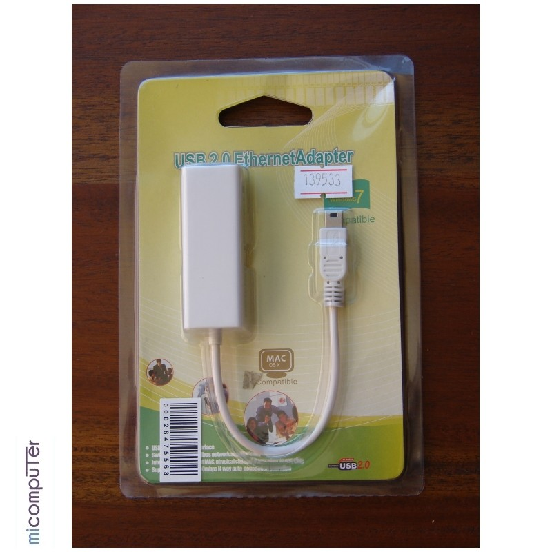 Adaptador miniUSB Ethernet