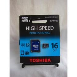 Tarjeta memoria microSDHC 16 GB Clase 10 Professional