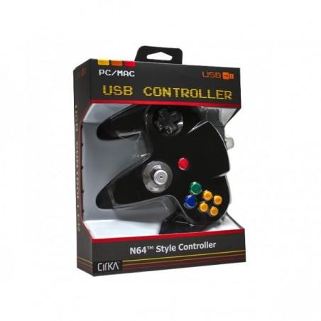 Mando Pad tipo Nintendo 64, N64 USB para PC o Mac