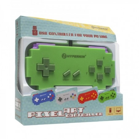 USB PC Mac controller, Pixel Art Green