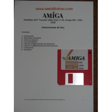 Transfer Kit Amiga ADF. Amiga 500, 1000, 600, 1200, 2000, 3000, 4000