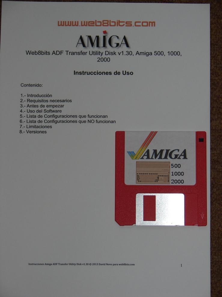 Transfer Kit Amiga ADF  Amiga 500, 1000, 600, 1200, 2000